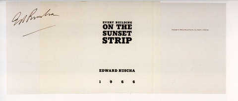 Ed Ruscha «Every Building on the Sunset Strip»